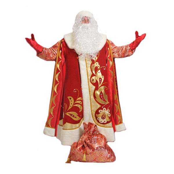 Маскарадный костюм Дед Мороз Хохлома арт. 1001