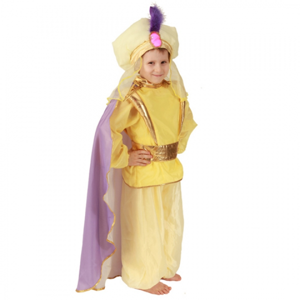 Маскарадный костюм Восточный принц (желтый) арт. 101 013 132