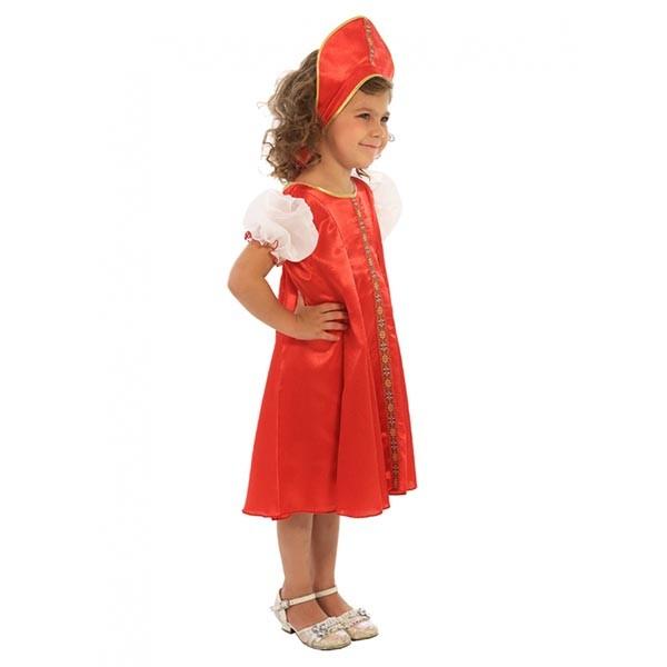 Маскарадный костюм Царевна (красный цвет) арт. 102 027 111