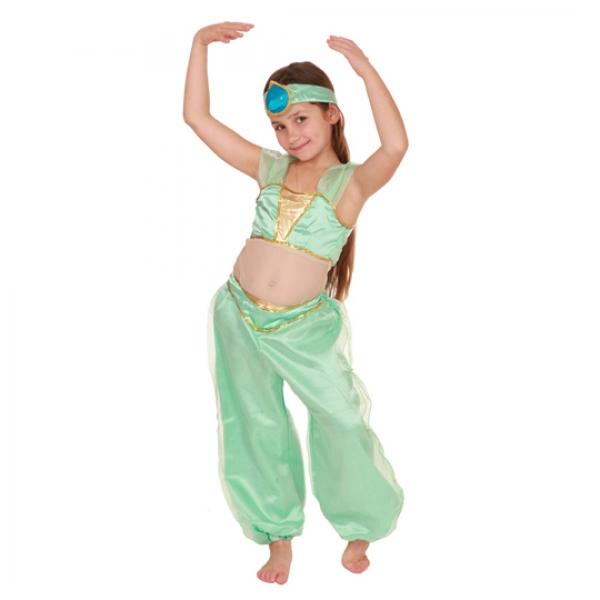 Маскарадный костюм Звезда Востока (зеленый цвет) арт. 102 013 113