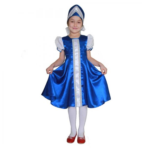 Маскарадный костюм Царевна (синий цвет) арт. 102 027 110