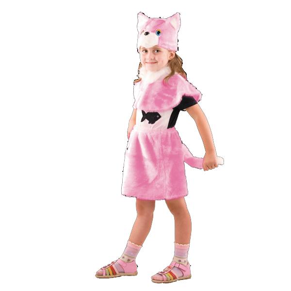 Карнавальный костюм Кошка розовая арт. 110