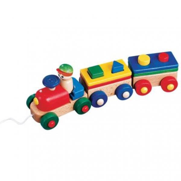 Детский развивающий конструктор для малышей Поезд