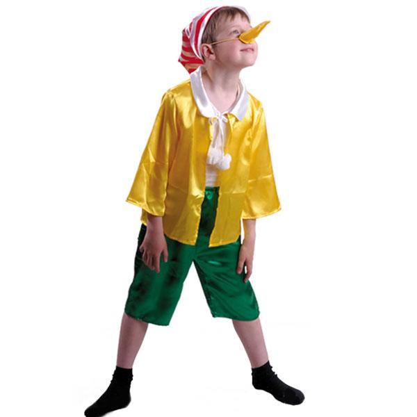 Карнавальный костюм Буратино атлас