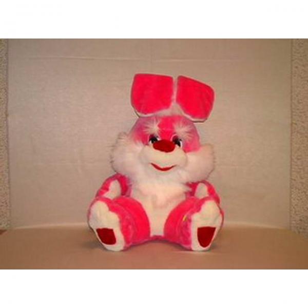 Мягкая игрушка Заяц Гигант розовый арт. 76713