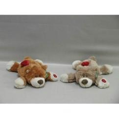 Мягкая игрушка Мишка лежит с кармашком