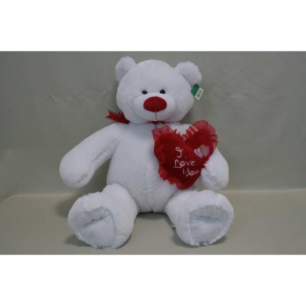 Мишка с сердцем белый арт. 94854