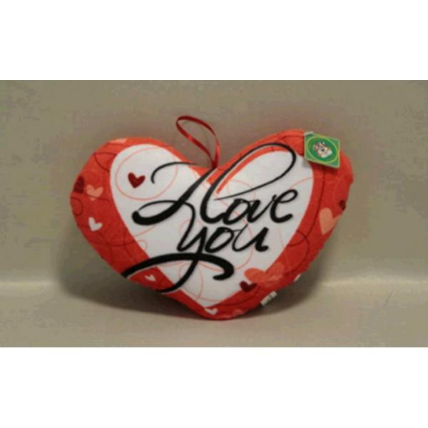 Мягкая игрушка подушка Сердце плюшевое