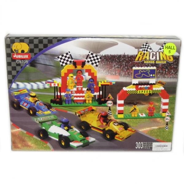 Детский игровой конструктор Автогонки