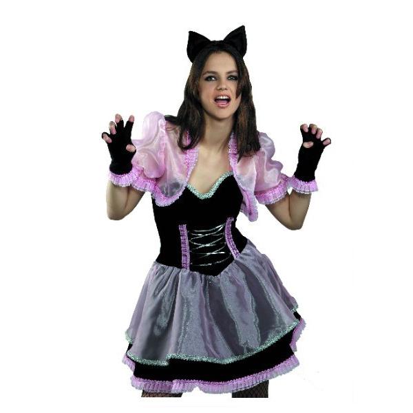 Карнавальный костюм Кошечка черно-розовая