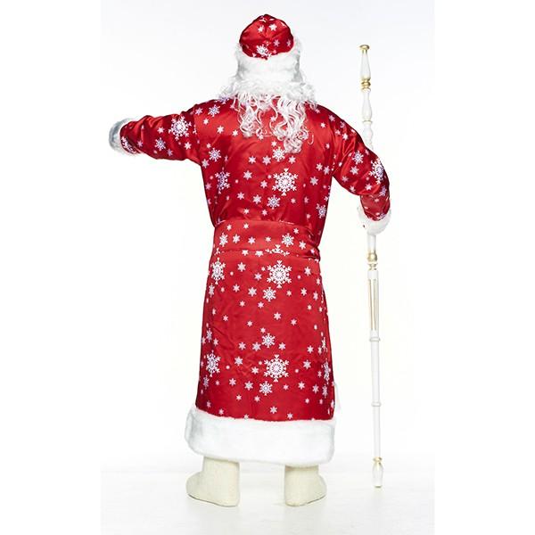 Карнавальный костюм Дед Мороз Вьюга красный