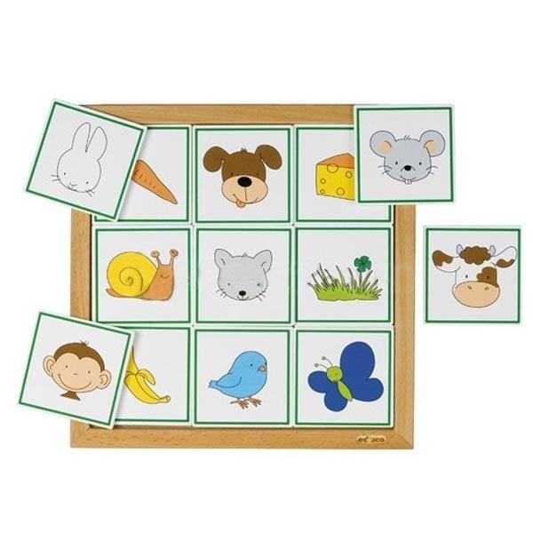 Детская развивающая настольная игра «Что едят животные» арт. 523074