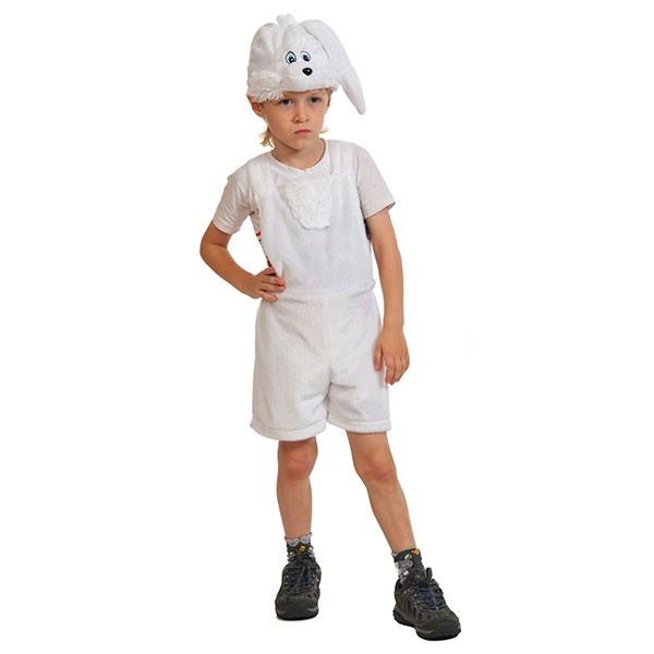 Маскарадный костюм Зайчик белый арт. 3004