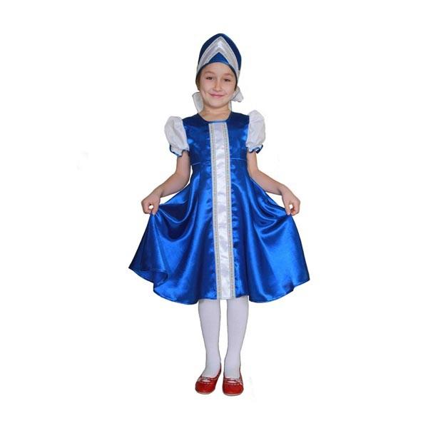 Карнавальный костюм Царевна (синий цвет) арт. 102035164