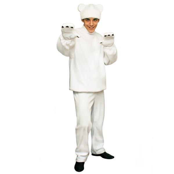 Карнавальный костюм Белый медведь арт KKVm-11b