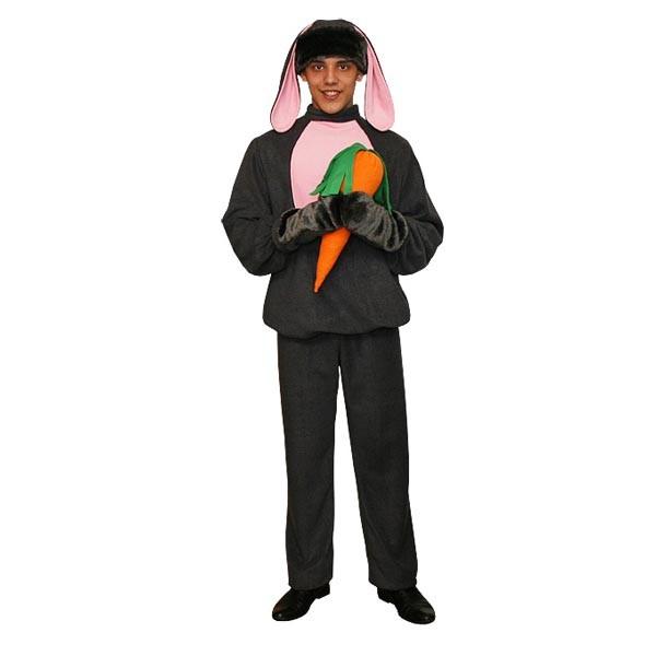 Карнавальный костюм Серый заяц арт KKVm-3s