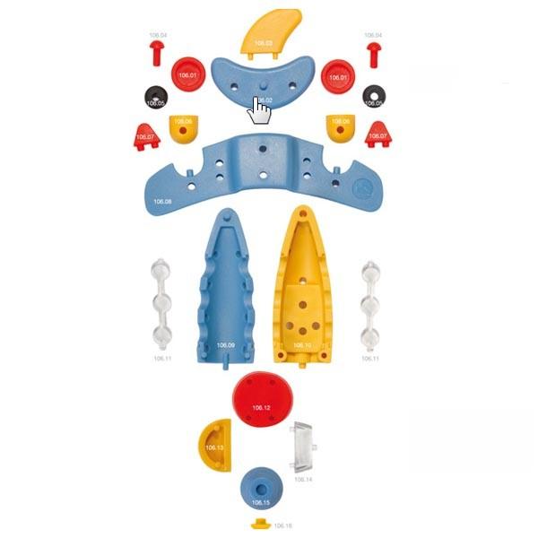 Детский игровой конструктор Самолет реактивный малый
