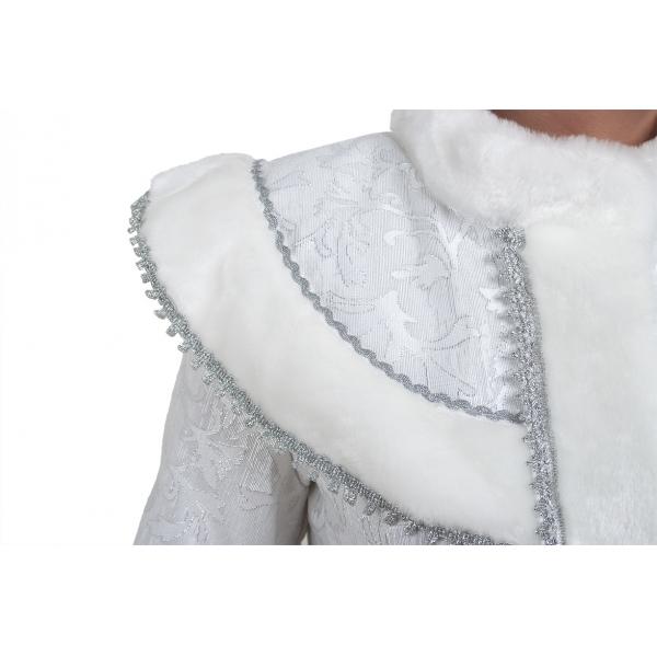 Костюм Снегурочка Классика М сантун белый