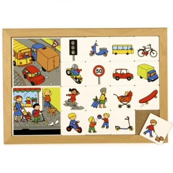Детская развивающая настольная игра Деление на категории «Дорога и тротуар» арт. 522920