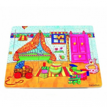 Детская развивающая игра Пазл-вкладыш «Детская комната» арт. 10131