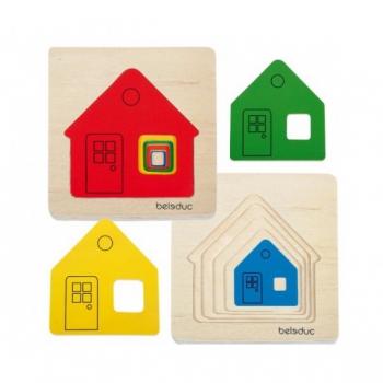 Детская развивающая игра Многослойный пазл «Домики» арт. 10141