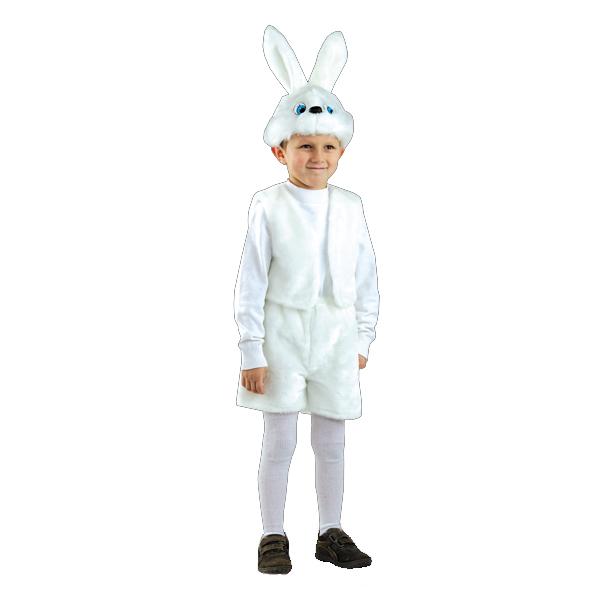 Карнавальный костюм Заяц белый  арт. 106
