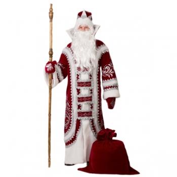 Костюм Дед Мороз Купеческий красный