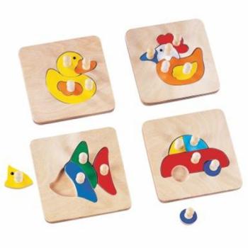 Детская развивающая игра Набор пазлов для малышей