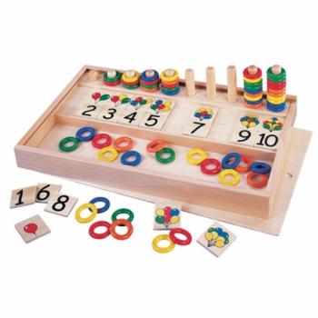 Детская развивающая игра для обучения счету Колечки и палочки