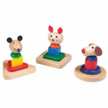 Детская развивающая игра Пирамидка Животные