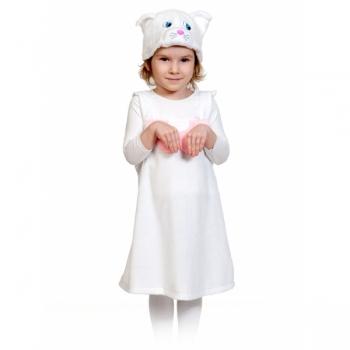 Костюм Кошечка белая плюш К3079