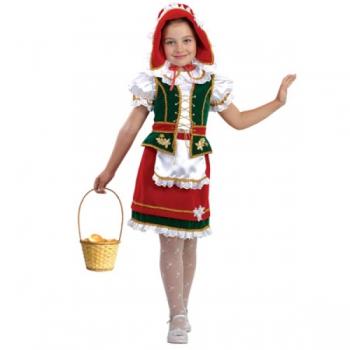 Карнавальный костюм Красная Шапочка бархат