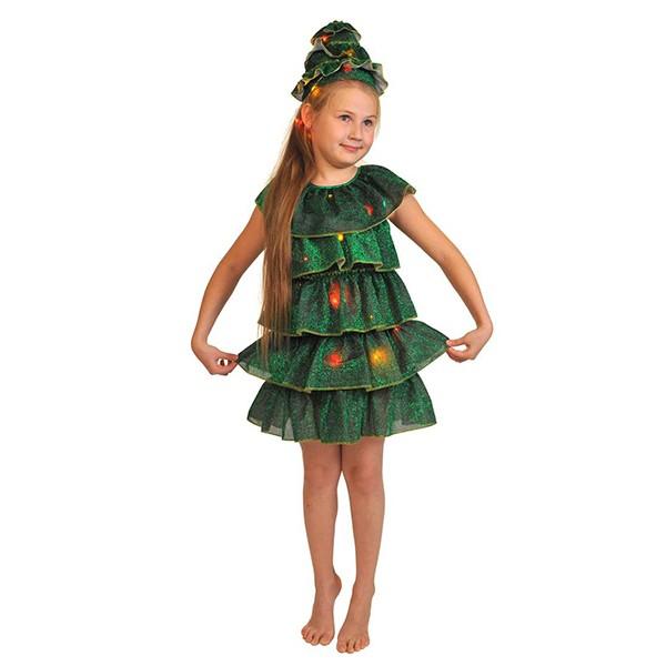 Карнавальный костюм Елочка светящаяся k5050
