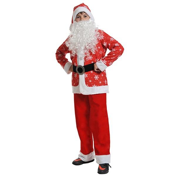 Костюм Санта Клаус плюш-ткань k7006