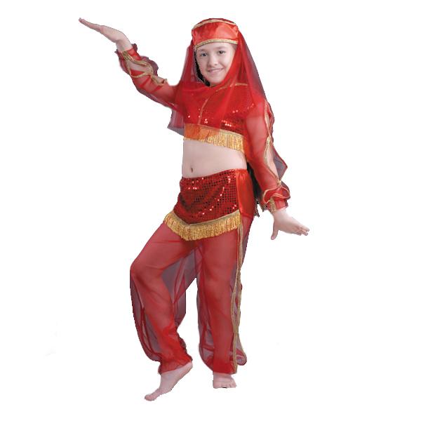 Карнавальный костюм Жасмин красная арт.7022-1