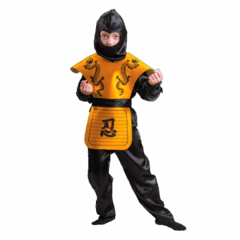 Карнавальный костюм Ниндзя желтый арт 7028-1