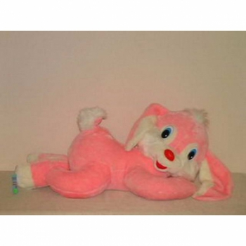 ягкая игрушка Заяц Лежебока розовый арт. 76704