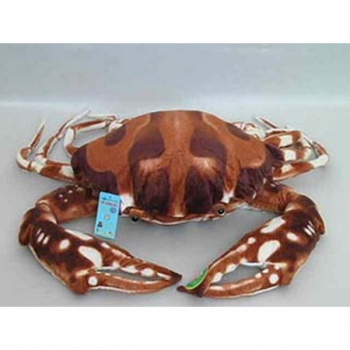 Мягкая игрушка Краб коричневый натуральный 40 арт. 82398