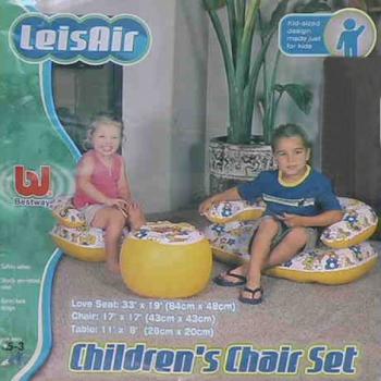 Надувной диван, стульчик и столик