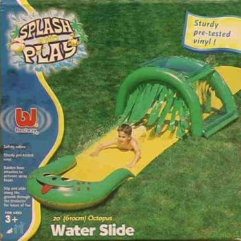 Водяная горка осьминог с разбрызгивателем