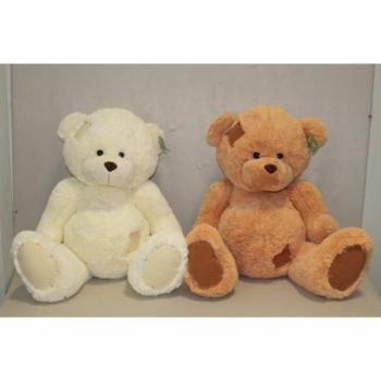 Мягкая игрушка Мишка белый и коричневый с заплаткой арт. 92020