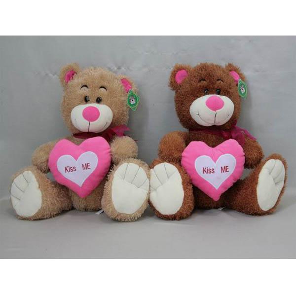 Мягкая игрушка Мишка с бантом и сердцем арт. 94899