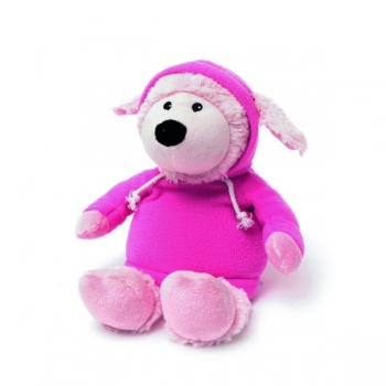 Игрушка грелка Овечка в худи розовая