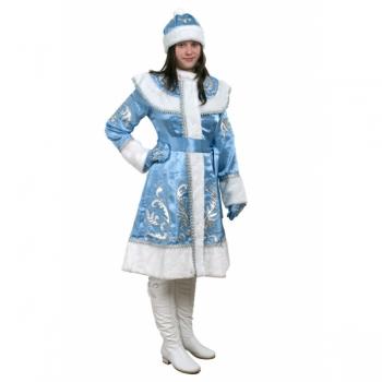 Костюм Снегурочка Классика М, креп-сатин с вышивкой