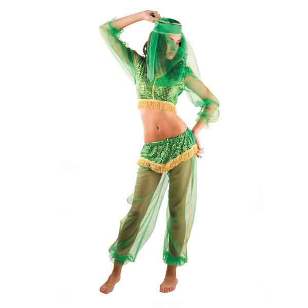 Карнавальный костюм Жасмин зеленая