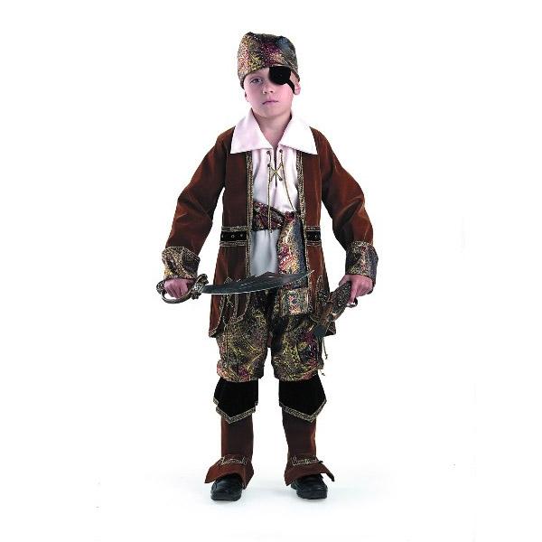Карнавальный костюм Капитан пиратов (коричневый)