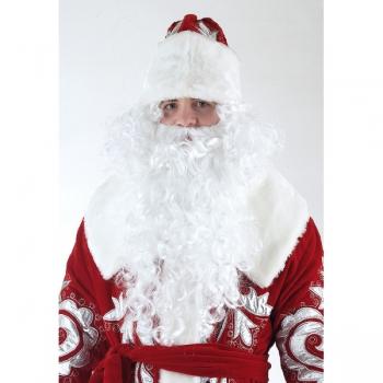 Комплект парик с бородой для Деда Мороза min 3