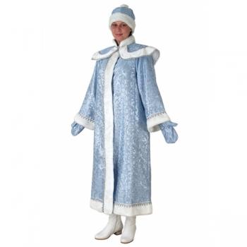 Снегурочка длинная с пелериной сантун голубой