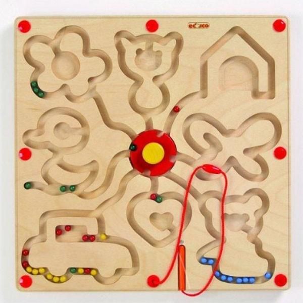 Детская развивающая настольная игра Магнитный лабиринт «Фигуры» арт. 522394