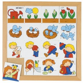 Детская развивающая логическая настольная игра-пазл «Что за чем» арт. 522286